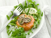 Salmon tartare with truffle Stock Photography