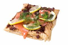 Salmon Tartine Стоковые Изображения