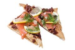 Salmon Tartine Стоковые Изображения RF