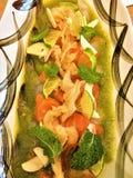 Salmon Tataki Thai Style Japan-Voedsel stock afbeelding