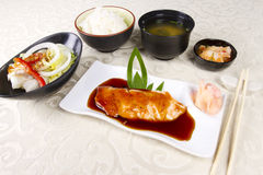 Salmon teriyaki Stock Image