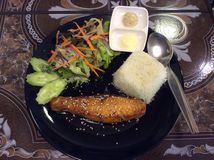 Salmon teriyaki Стоковое Изображение RF