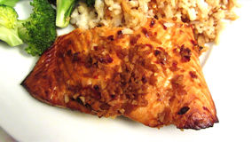 Salmon Teriyaki Dinner Royalty Free Stock Photography