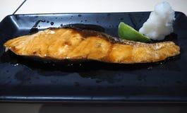 Salmon teriyaki stock image