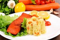 Salmon time Royalty Free Stock Photos