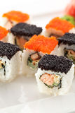 Salmon and Tobiko Roll Stock Photography