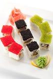 Salmon and Tobiko Roll Stock Photos
