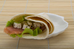 Salmon tortilla Royalty Free Stock Photography