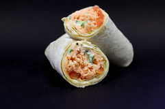 Salmon Tortilla Wrap Royalty-vrije Stock Fotografie