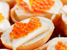 Salmon trout caviar Royalty Free Stock Image