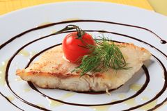 Salmon trout fillet Stock Image