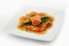 Salmon and tuna carpaccio Royalty Free Stock Photo
