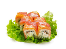 Salmon and Tuna Roll Stock Photography