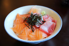 Salmon and tuna sushi don Royalty Free Stock Photos