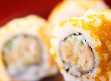 Salmon Uramaki Sushi Lizenzfreies Stockbild