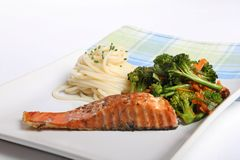Salmon and vegetables Stock Image