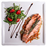 Salmon with vegetables Stock Image