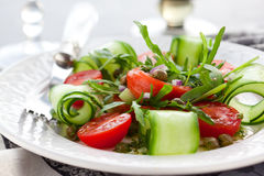 Salmon and vegetables  salad Royalty Free Stock Image