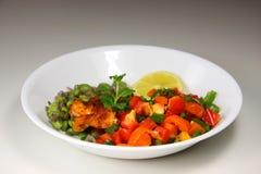 Salmon and veggies Stock Photos