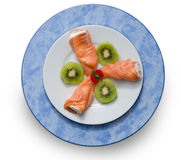 Salmon. White Stock Photos