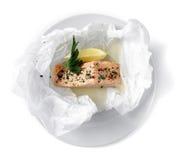 Free Salmon Wine Sachets (en Papillote) Royalty Free Stock Photos - 32616828