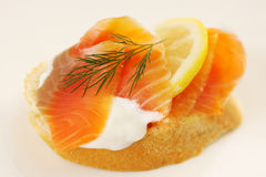Salmon With Baguette Royalty Free Stock Photos