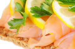 Salmon With Lemon Stock Images