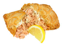 Salmon Wrapped In Crispy Pastry Royalty Free Stock Photography