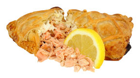 Salmon Wrapped In Crispy Pastry Stock Photo