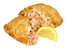 Salmon Wrapped In Crispy Pastry Stock Photography