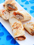 Salmon wraps with cheese Royalty Free Stock Photo