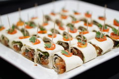 Salmon wraps Royalty Free Stock Photos