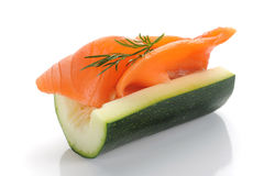 Salmon and Zucchini Stock Image
