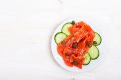 Salmone affumicato con il condimento piccante Immagine Stock