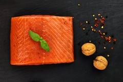 Salmone affumicato e spezie Immagini Stock Libere da Diritti