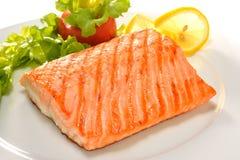 Salmone arrostito immagine stock