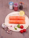 Salmone con le spezie Fotografia Stock