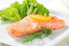 Salmone cucinato Immagini Stock