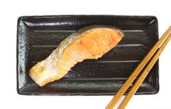Salmone della griglia Fotografie Stock