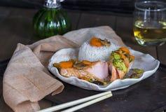 Salmone di stile cinese Immagine Stock