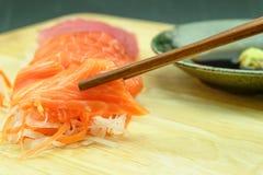 Salmone e tonno del sashimi Fotografia Stock