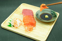 Salmone e tonno di Sasimi Fotografie Stock