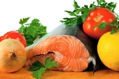 Salmone e verdure Immagine Stock Libera da Diritti