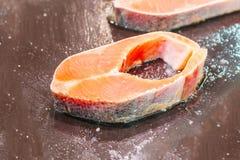 Salmone per il cuoco Fotografie Stock Libere da Diritti