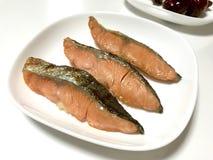 Salmone salato arrostito giapponese immagini stock libere da diritti