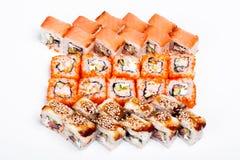Salmone-Sushi & Nigiri-Sushi & California-Sushi Immagini Stock