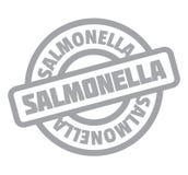 Salmonella rubber stamp Stock Image