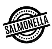 Salmonella rubber stamp Royalty Free Stock Image