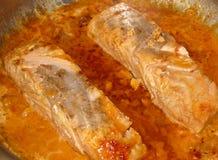Salmones cocinados Imagenes de archivo