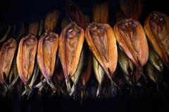Salmones curados fumados Foto de archivo libre de regalías